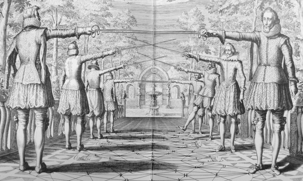 Thibault's straight line posture and first instance (book 1, table IV)